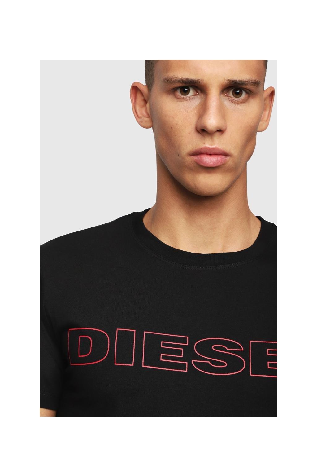 Diesel logo tričko pánské - černé