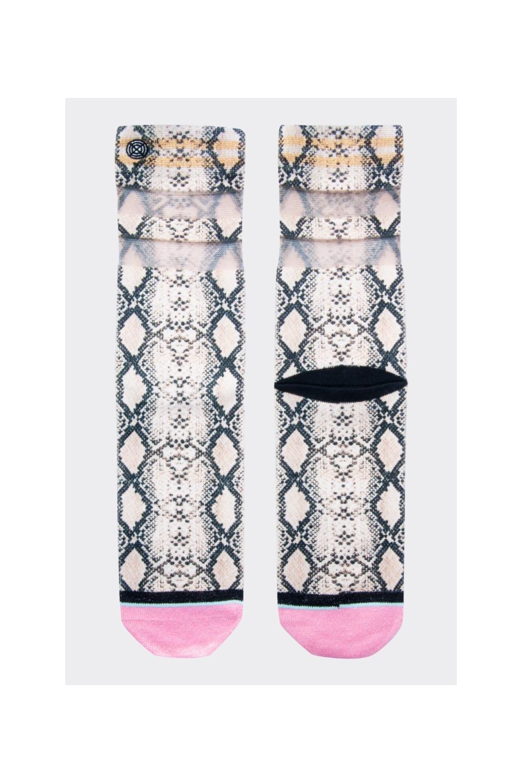 XPOOOS ponožky dámské zvířecí vzor - hnědá, růžová