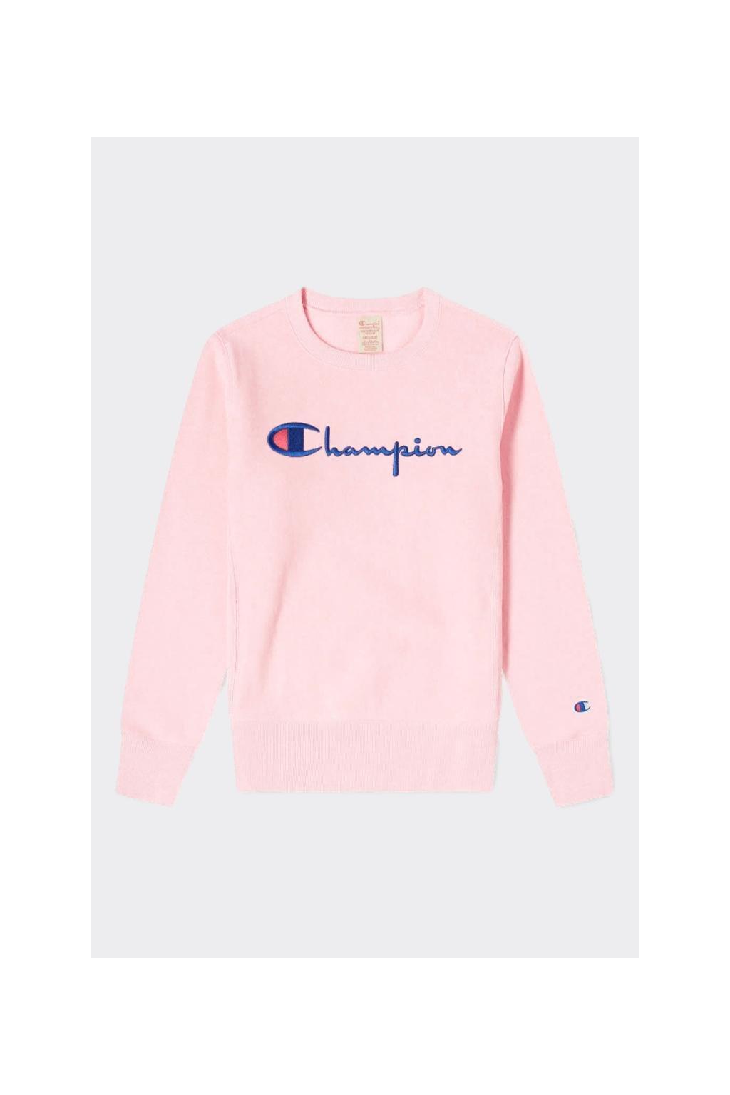 Champion Premium reverse weave dámská mikina velké logo - světle růžová