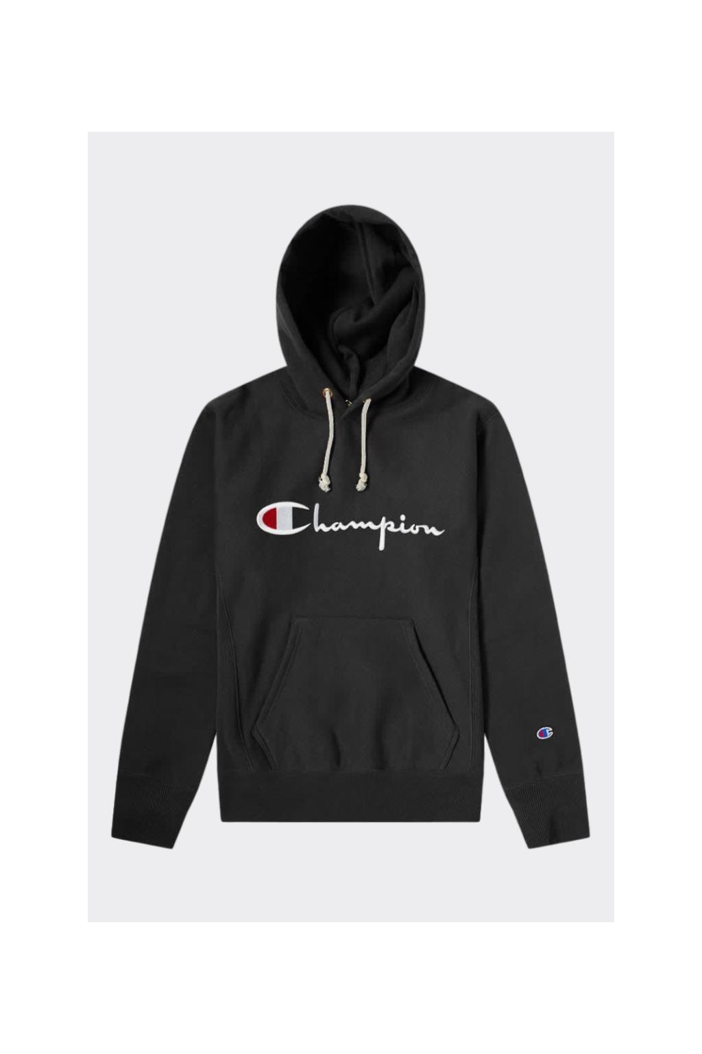 Champion Premium reverse weave pánská mikina s kapucí - černá