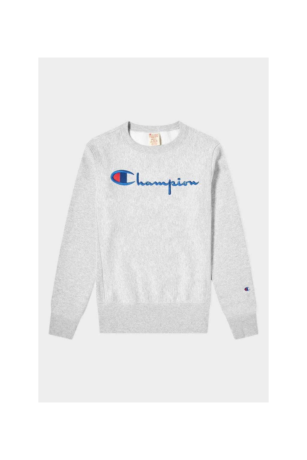 Champion Premium reverse weave pánská mikina - šedá