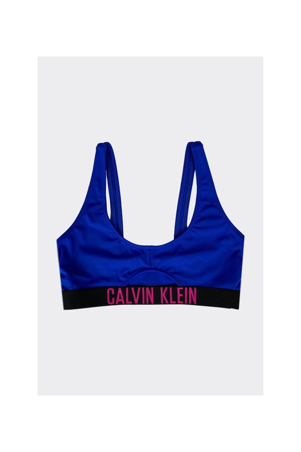Calvin Klein Intense Power Cut out bralette vrchní díl plavek - modrá