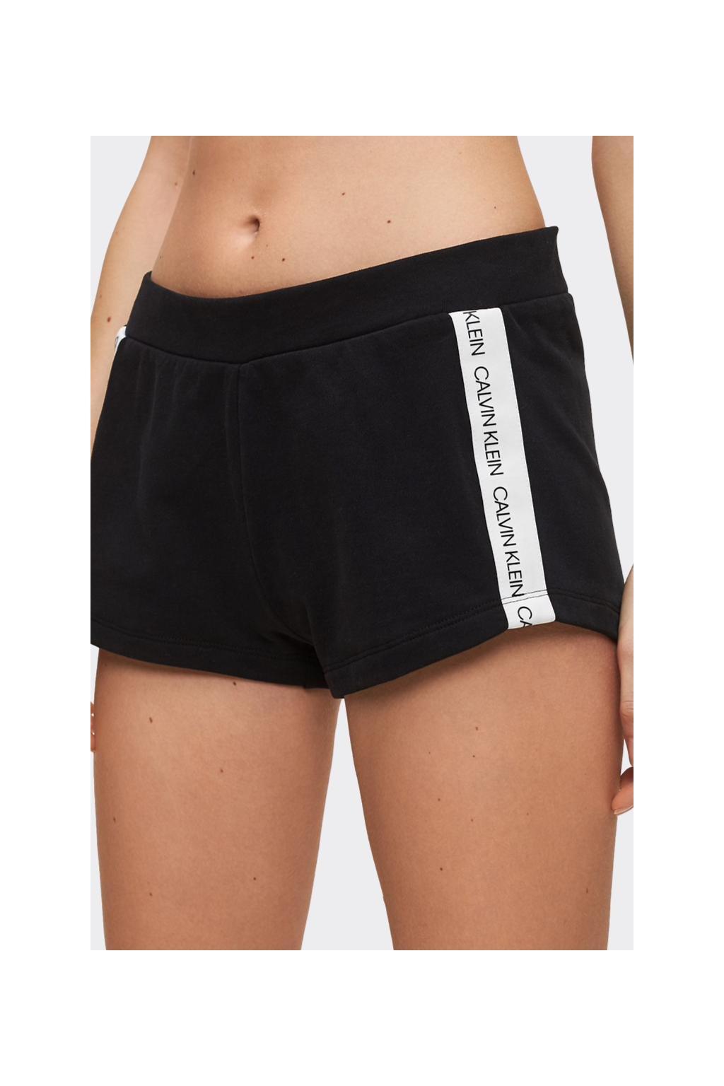 Calvin Klein šortky s logo lemem - černé