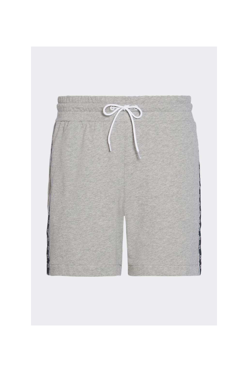 Calvin Klein šortky pánské s logo pruhem - šedé