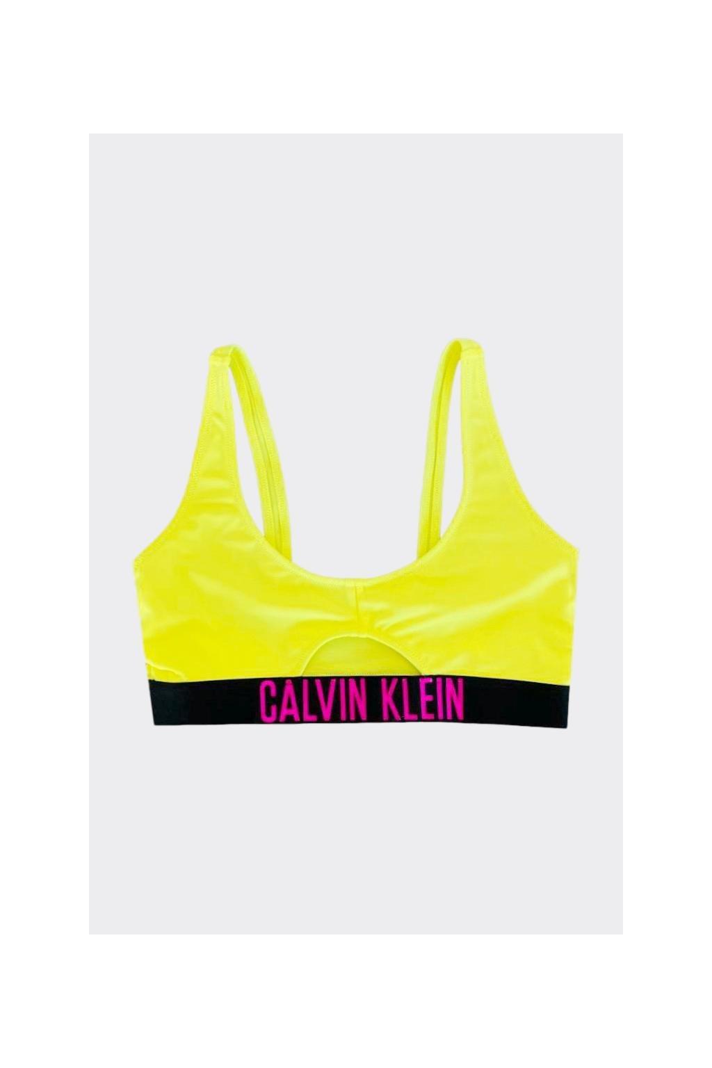 Calvin Klein Intense Power Cut out vrchní díl plavek - neonově žlutá
