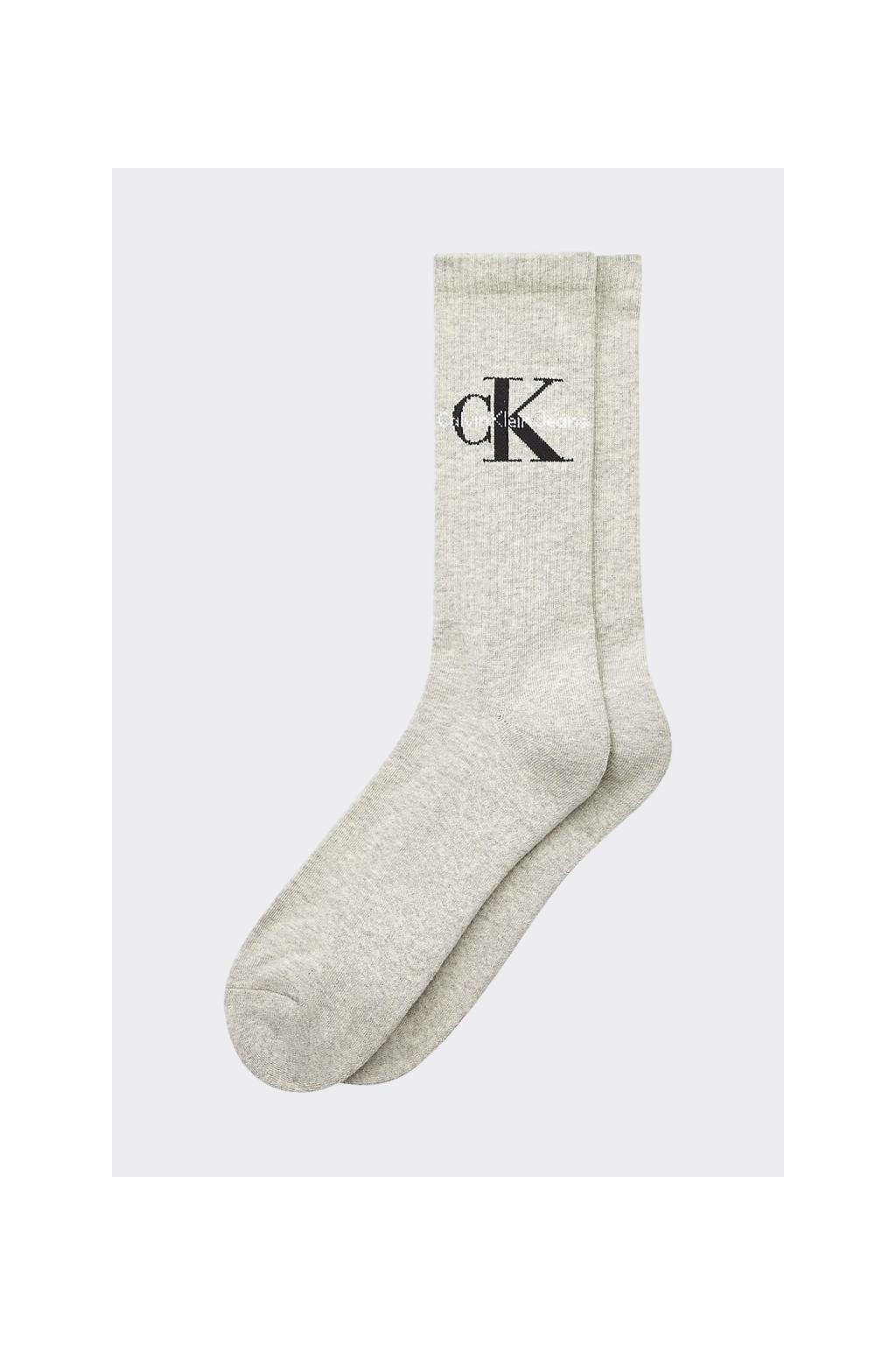 Calvin Klein jeans pánské vysoké ponožky - světle šedé