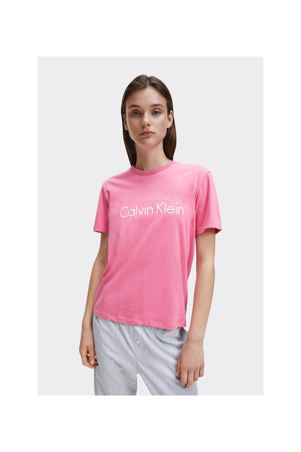 Calvin Klein logo tričko dámské - růžové
