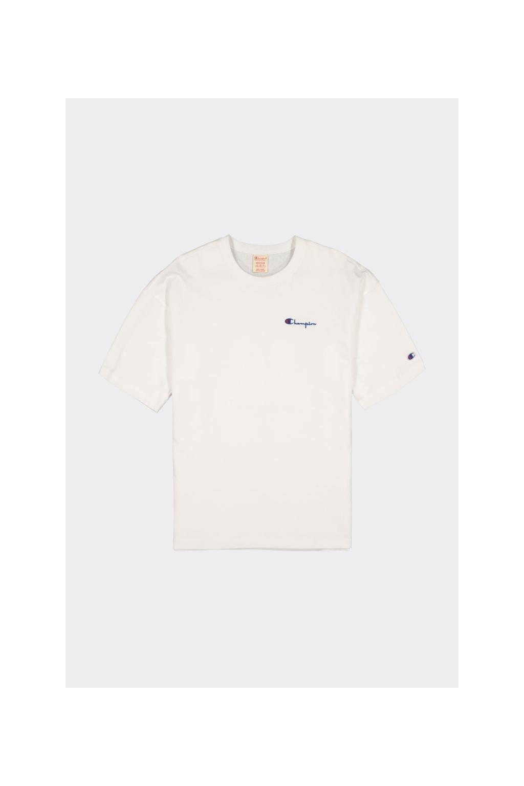 Champion Premium pánské tričko s malým logem - bílé