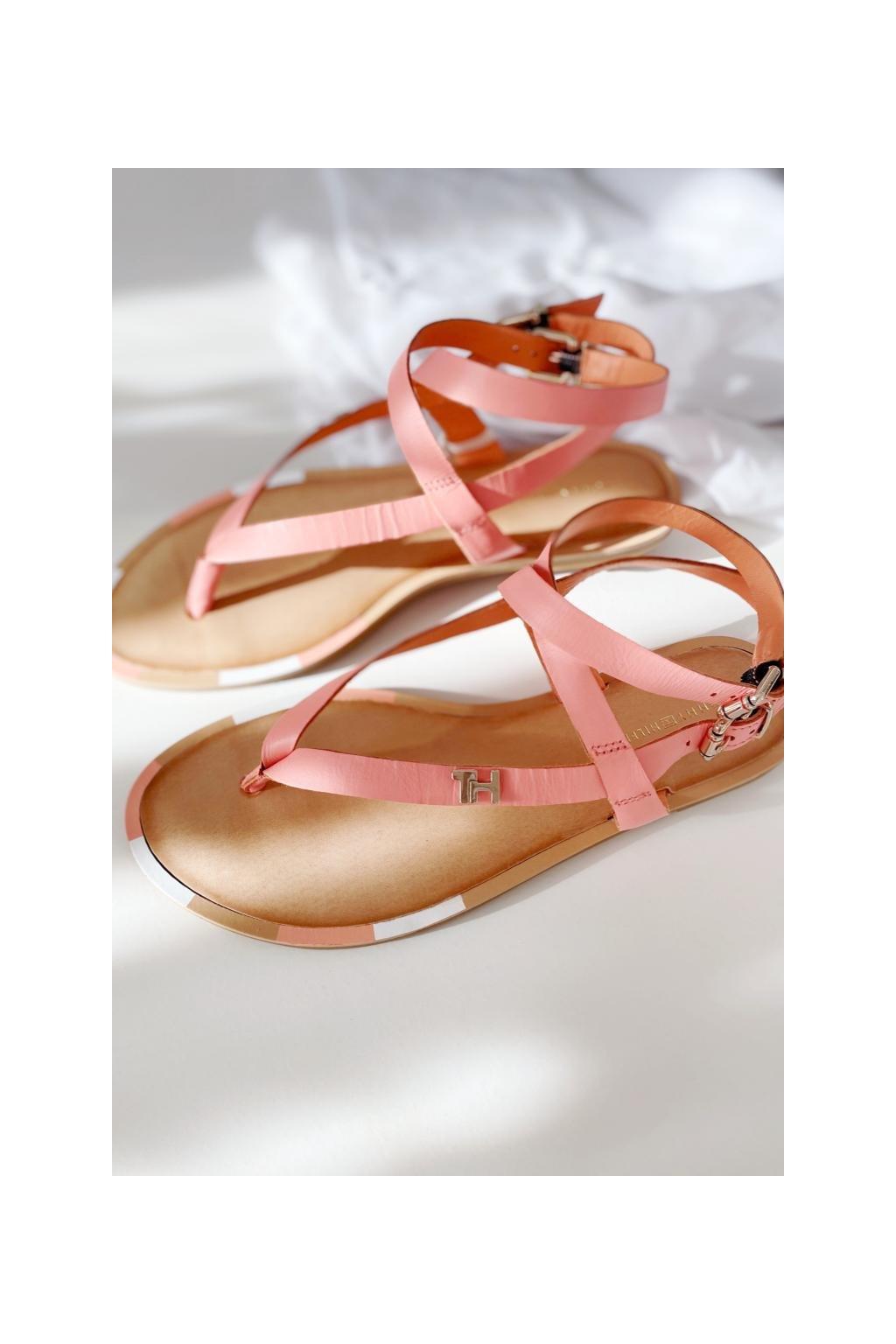 Tommy Hilfiger sandále dámské - korálová