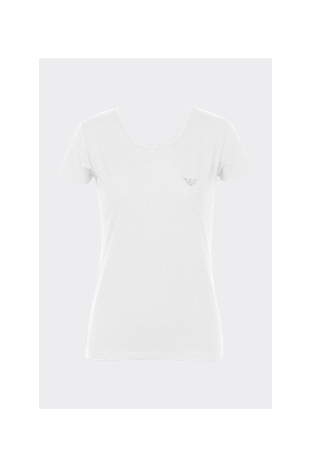 Emporio Armani dámské tričko Iconic Cotton - bílé