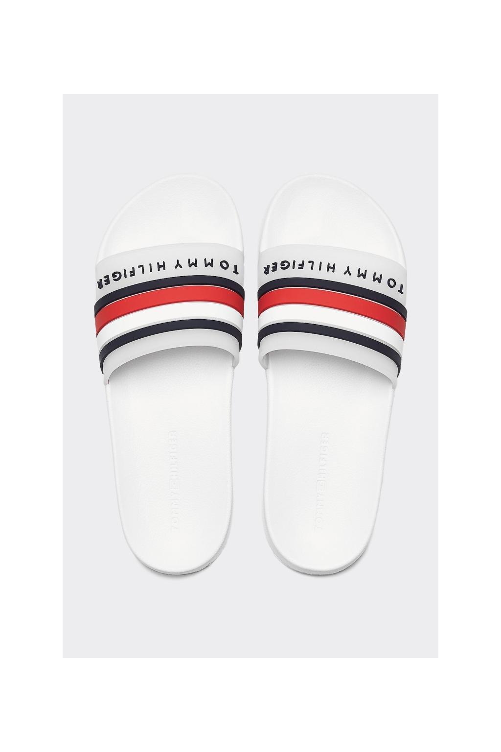 Tommy Hilfiger pantofle pánské - bílá