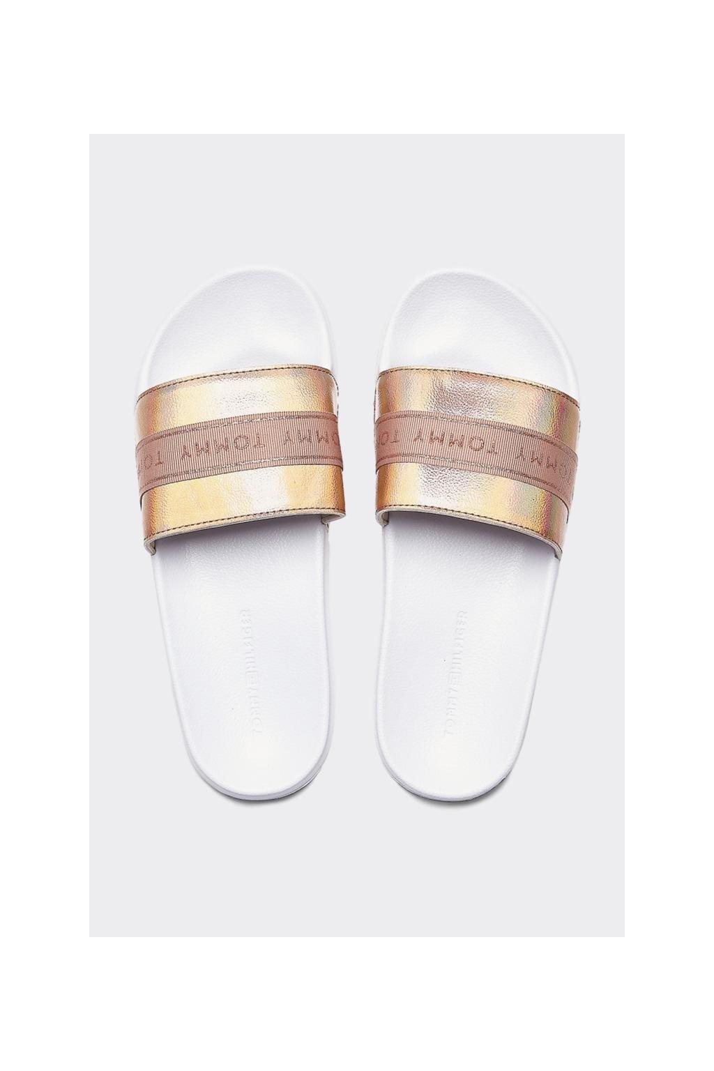 Tommy Hilfiger pantofle dámské - rose gold