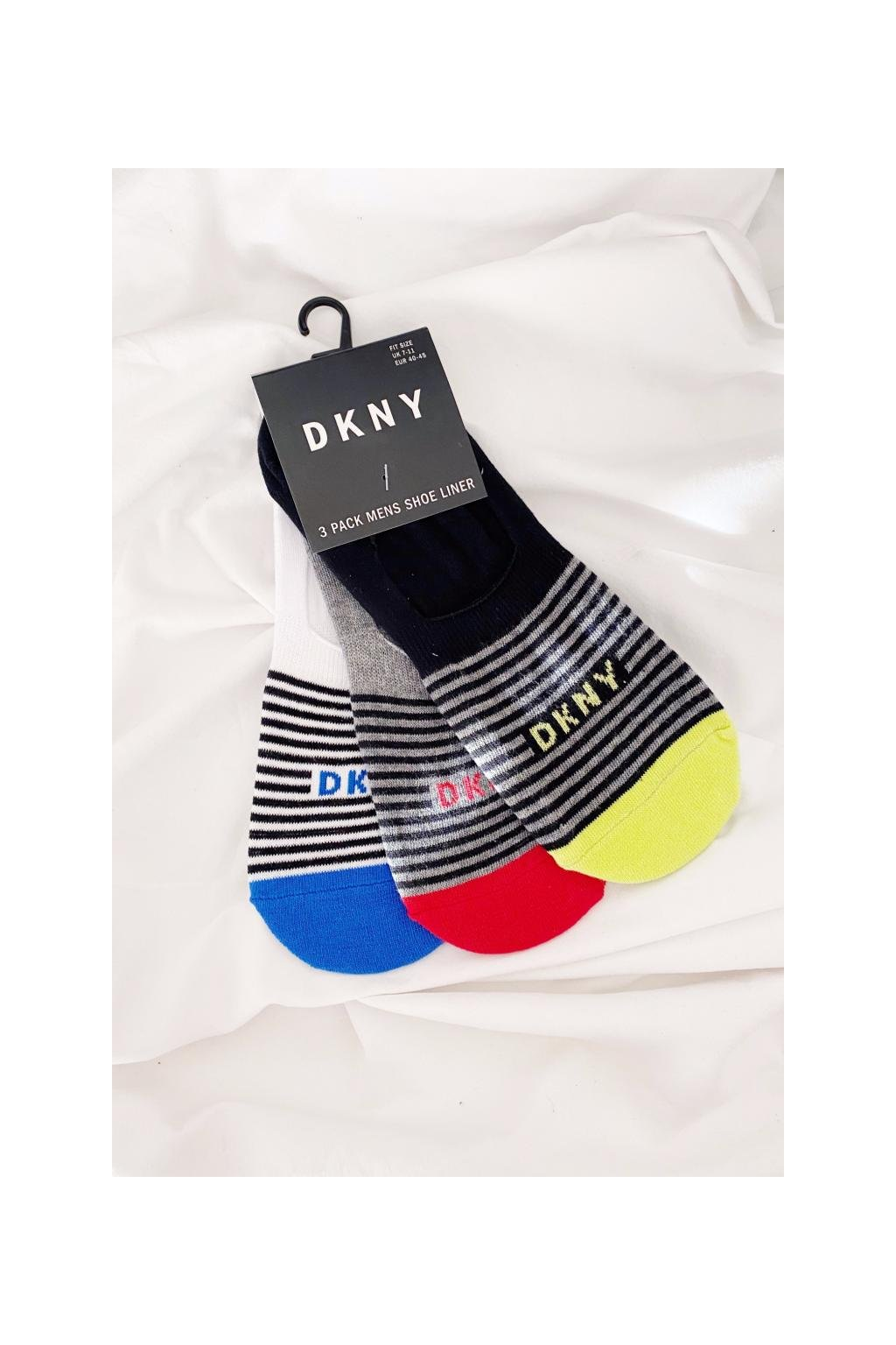 DKNY 3-balení ponožek pánské - šedá, bílá