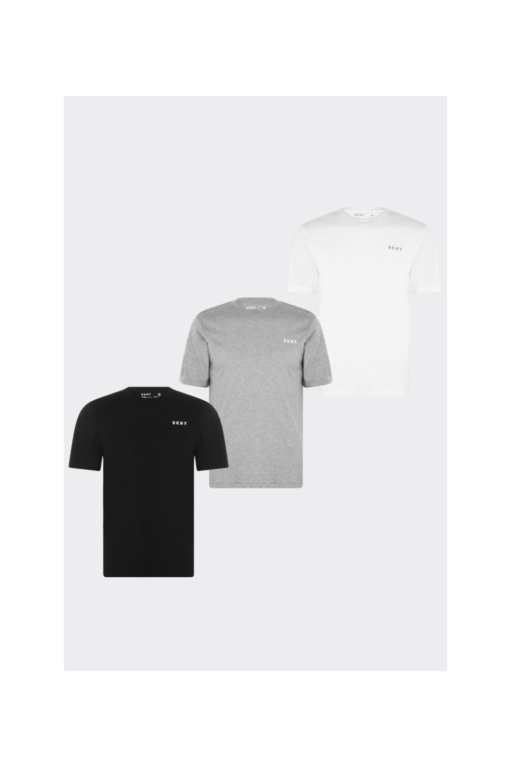 DKNY 3-balení triček - bílá, černá, šedá