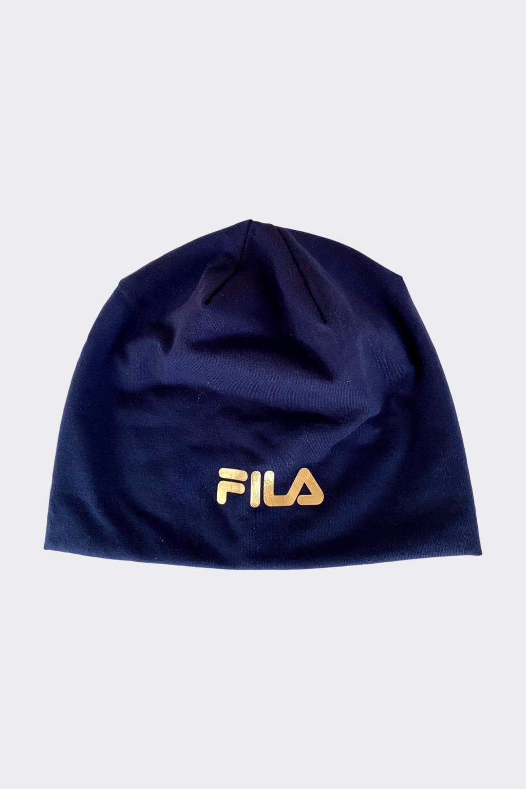 FILA dětská čepice - modrá