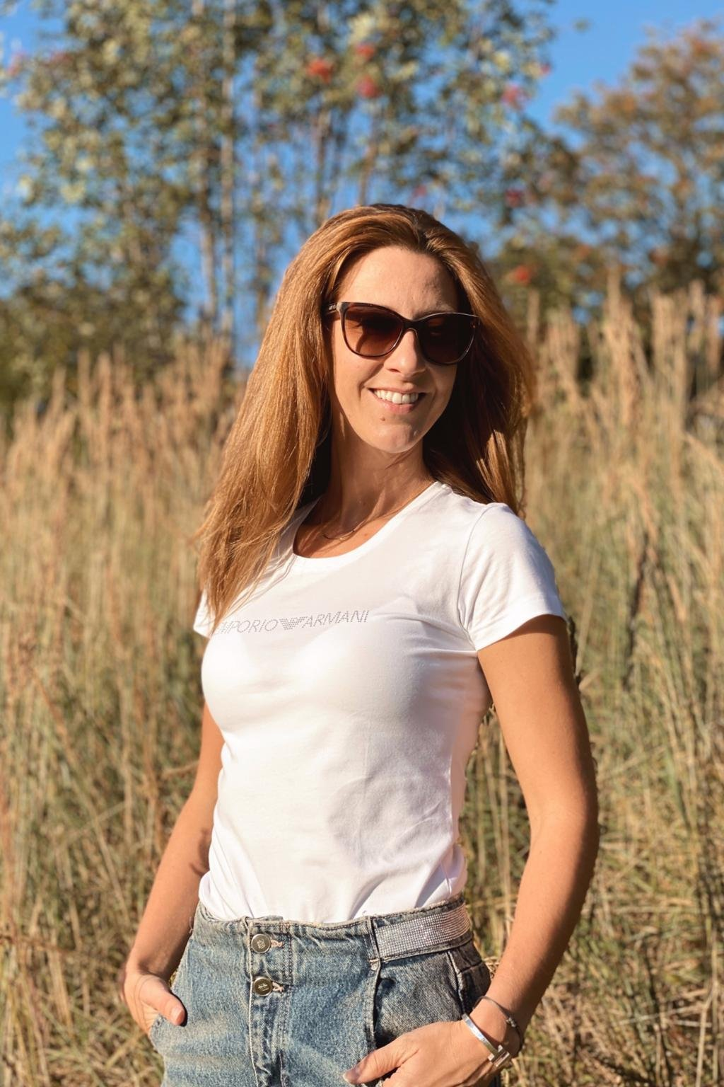 Emporio Armani Neo Romantic tričko s krátkým rukávem dámské - bílé