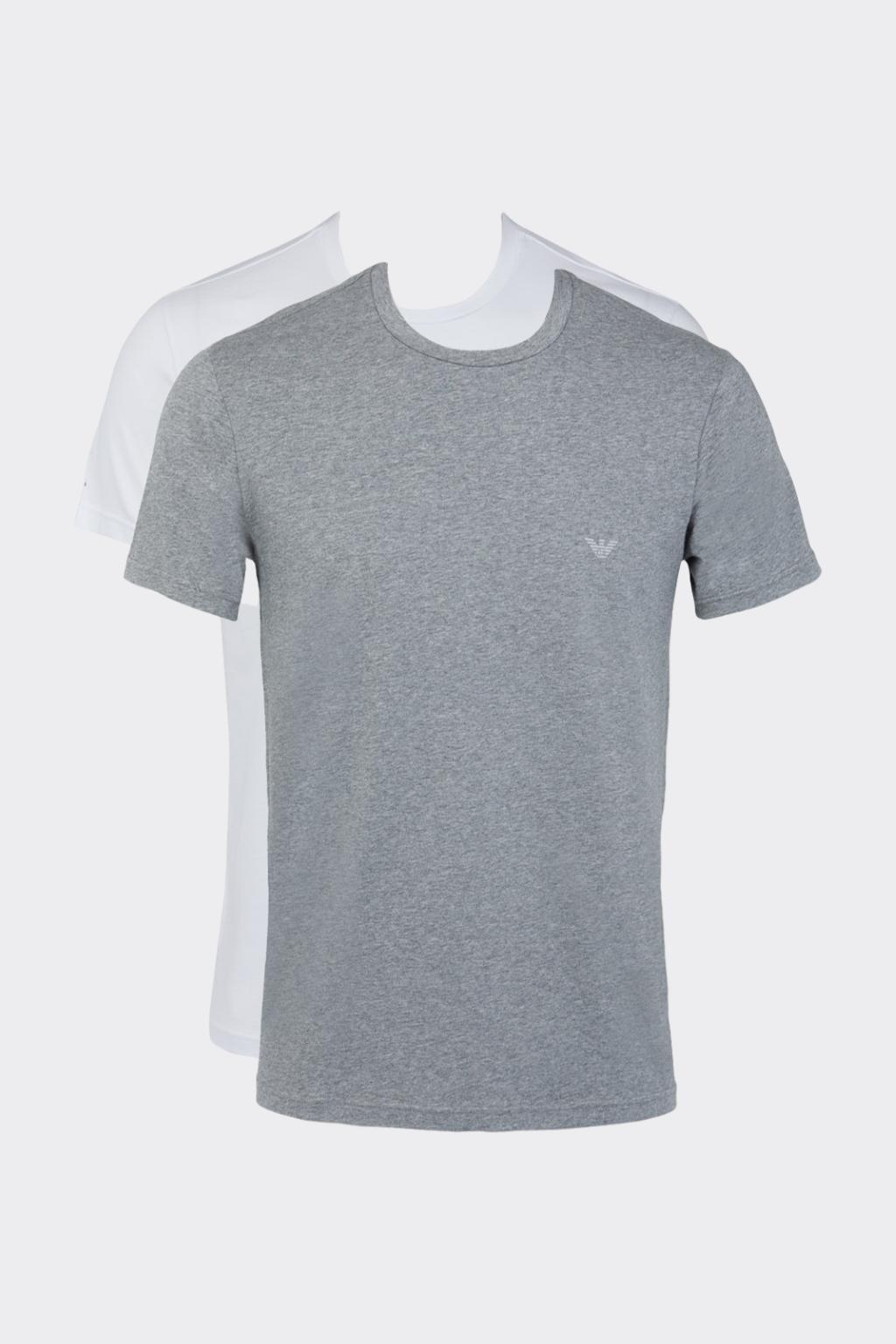 Emporio Armani Endurace 2-balení pánských triček - šedá, bílá