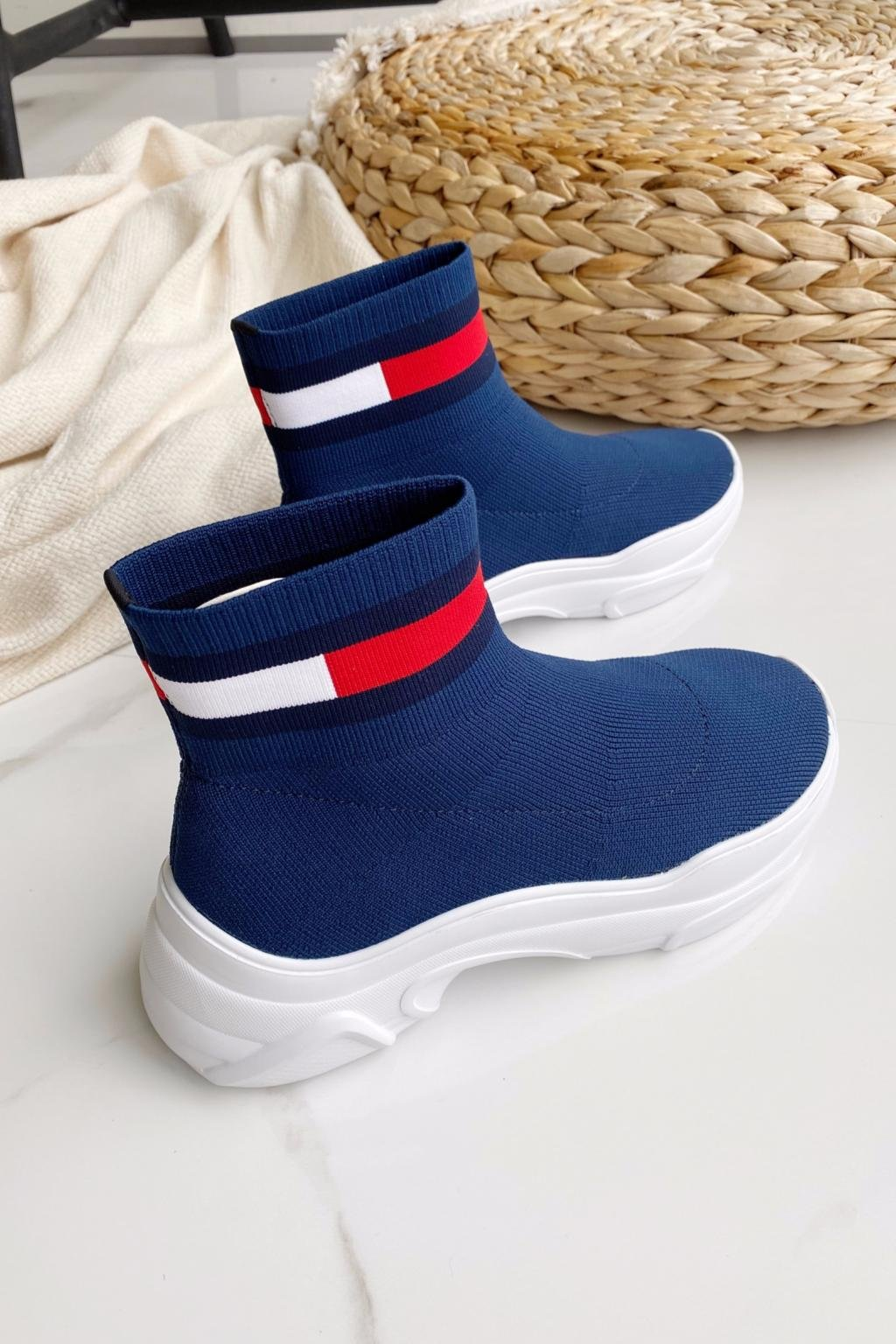 Tommy Jeans Sock Boots dámské - modré