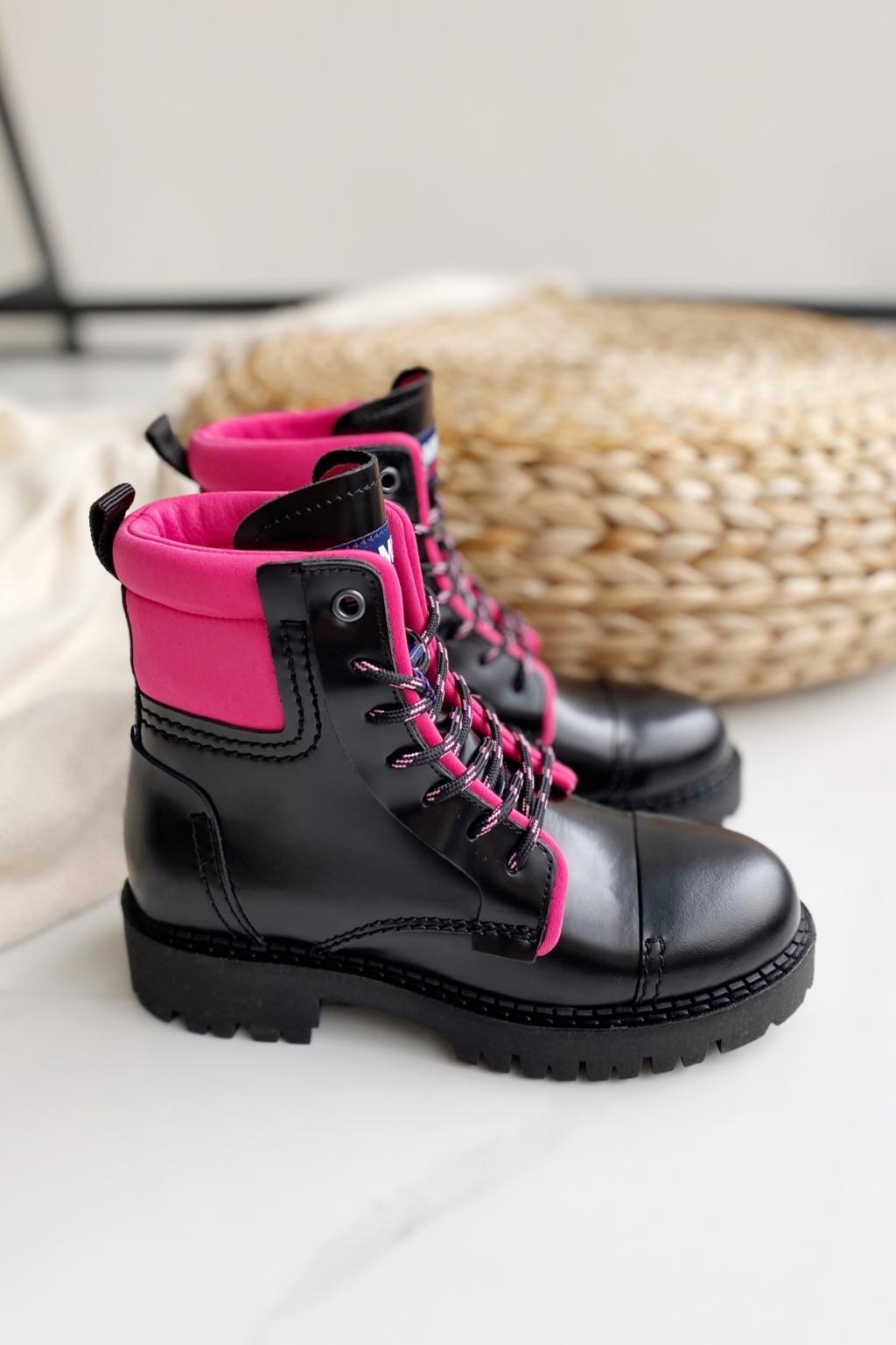 Tommy Jeans fashion boots dámské - černá, růžová