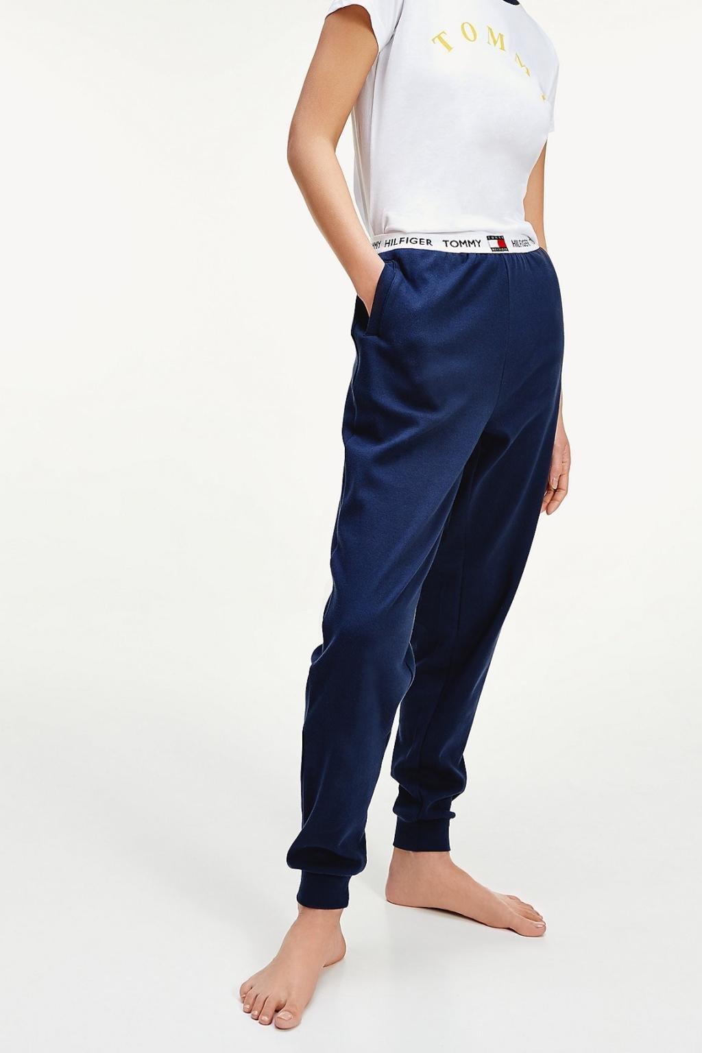 Tommy Hilfiger tepláky z organické bavlny dámské - modré
