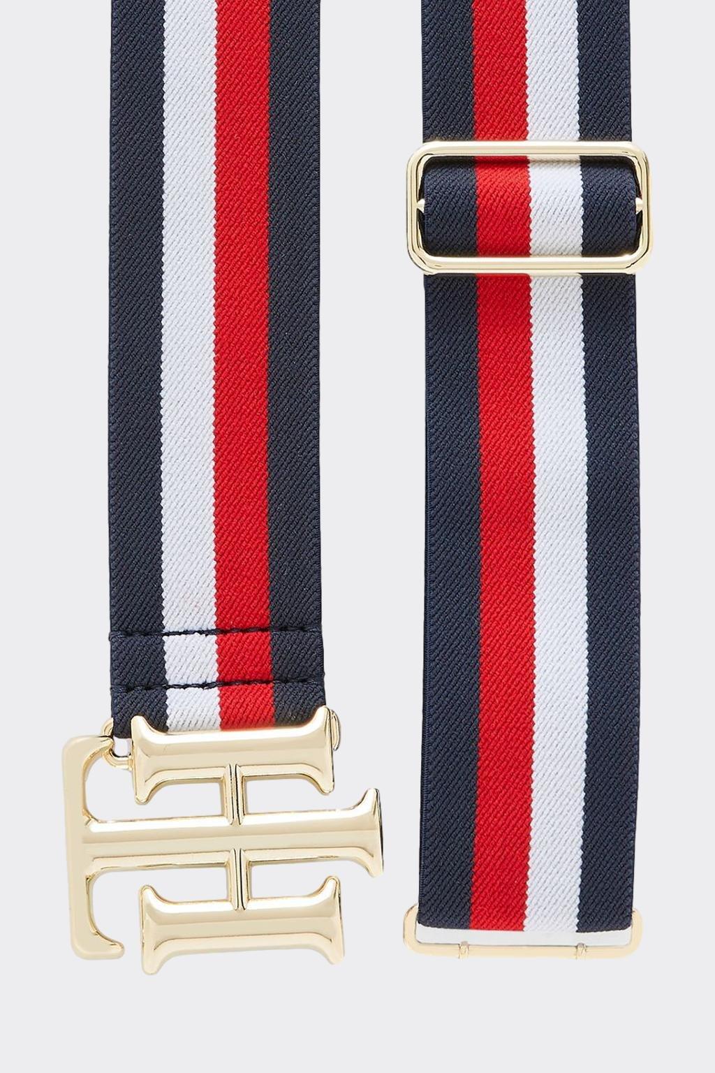 Tommy Hilfiger dámký pásek elastický - červená, bílá, modrá