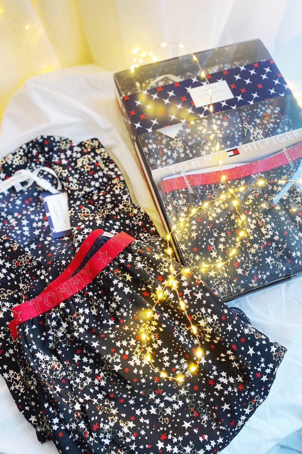 Dárkové balení Tommy Hilfiger pyžamový set dámský - tmavě modrá