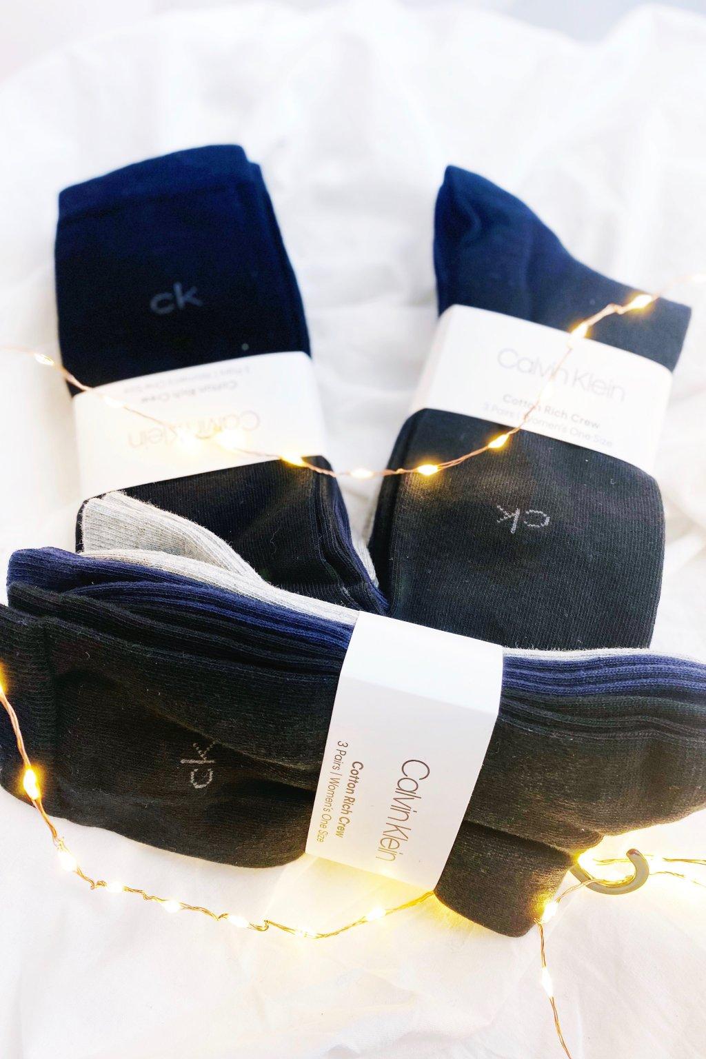 Calvin Klein dámské ponožky nízké 3 páry - černá, šedá, modrá