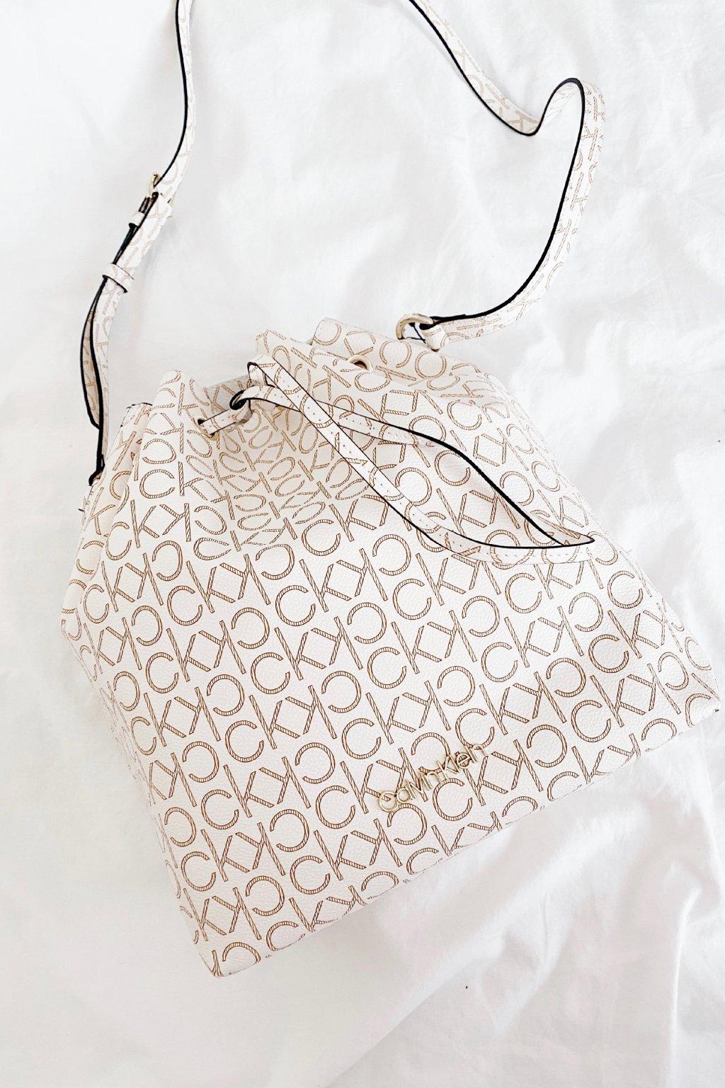 Calvin Klein bucket bag kabelka - béžová