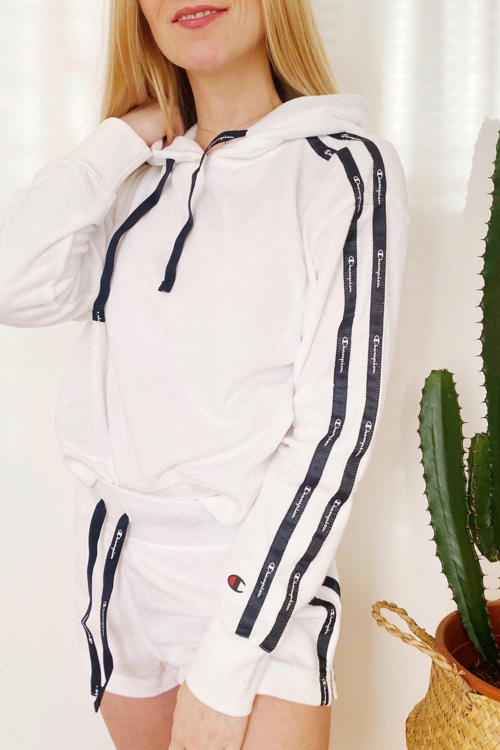 Champion mikina s kapucí dámská - bílá