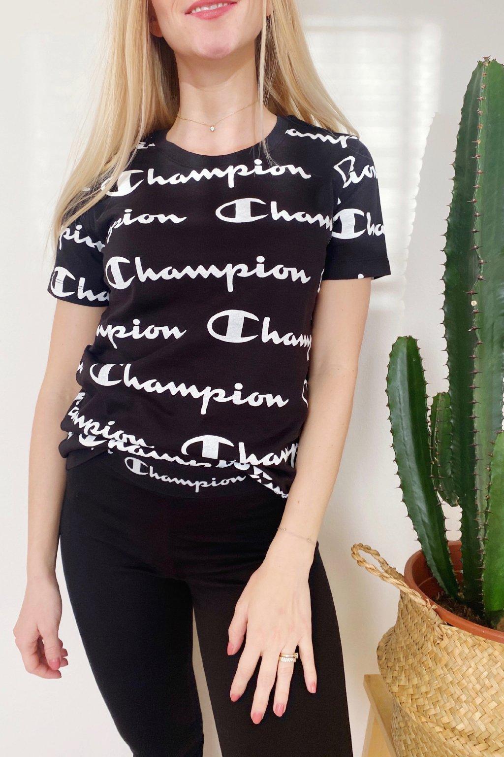 Champion dámské logo tričko - černé