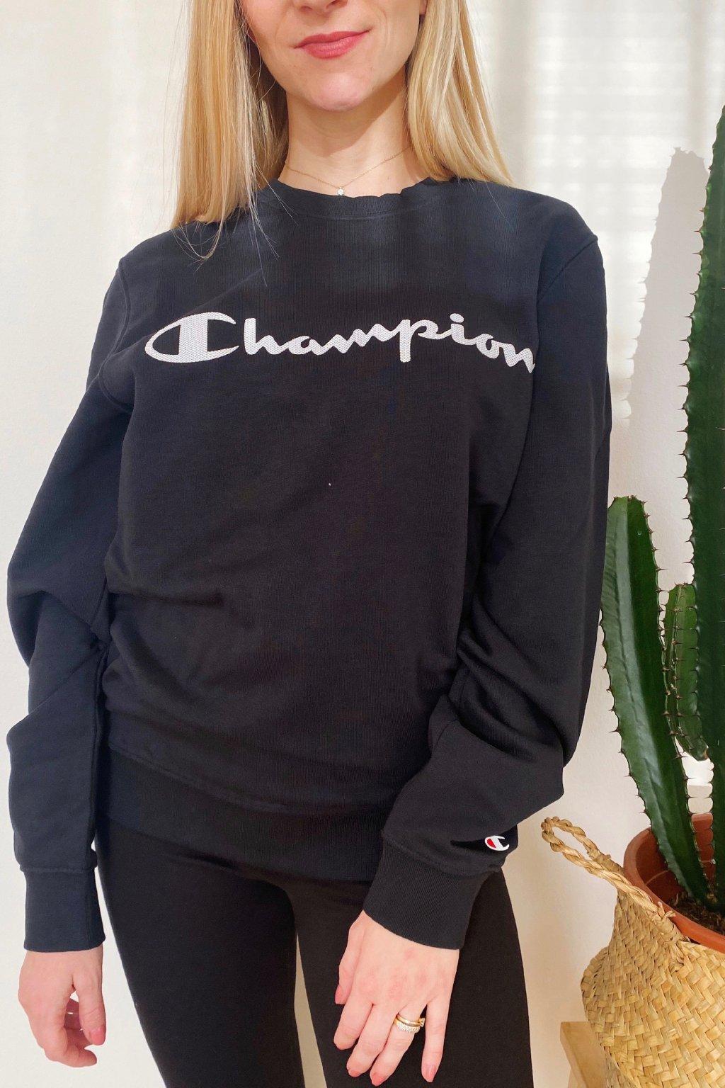 Champion dámská mikina s logem - černá