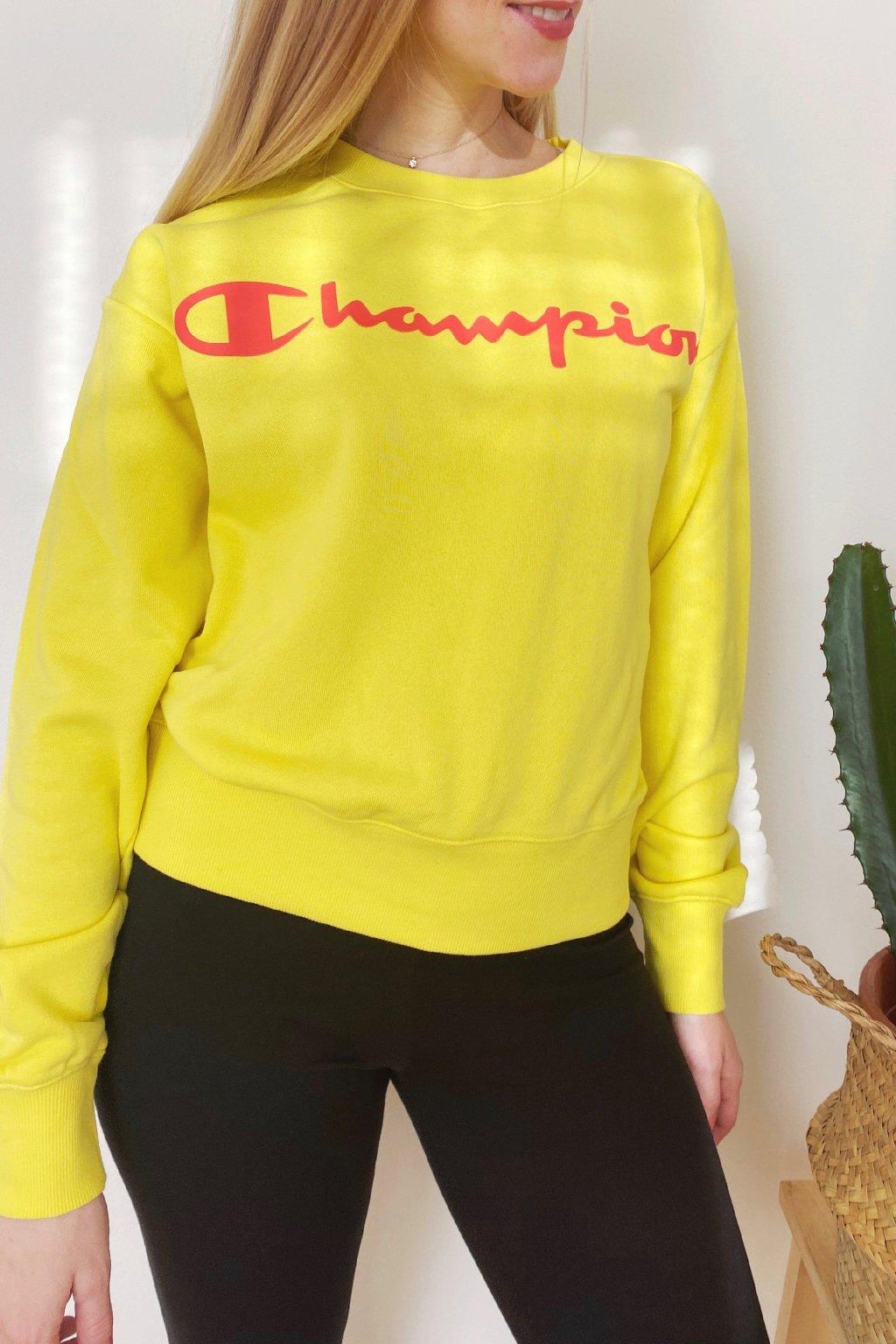 Champion dámská logo mikina - žlutá