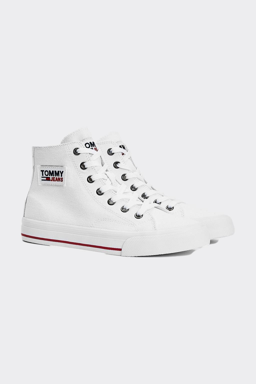 Tommy Jeans kotníčkové dámské tenisky - bílé
