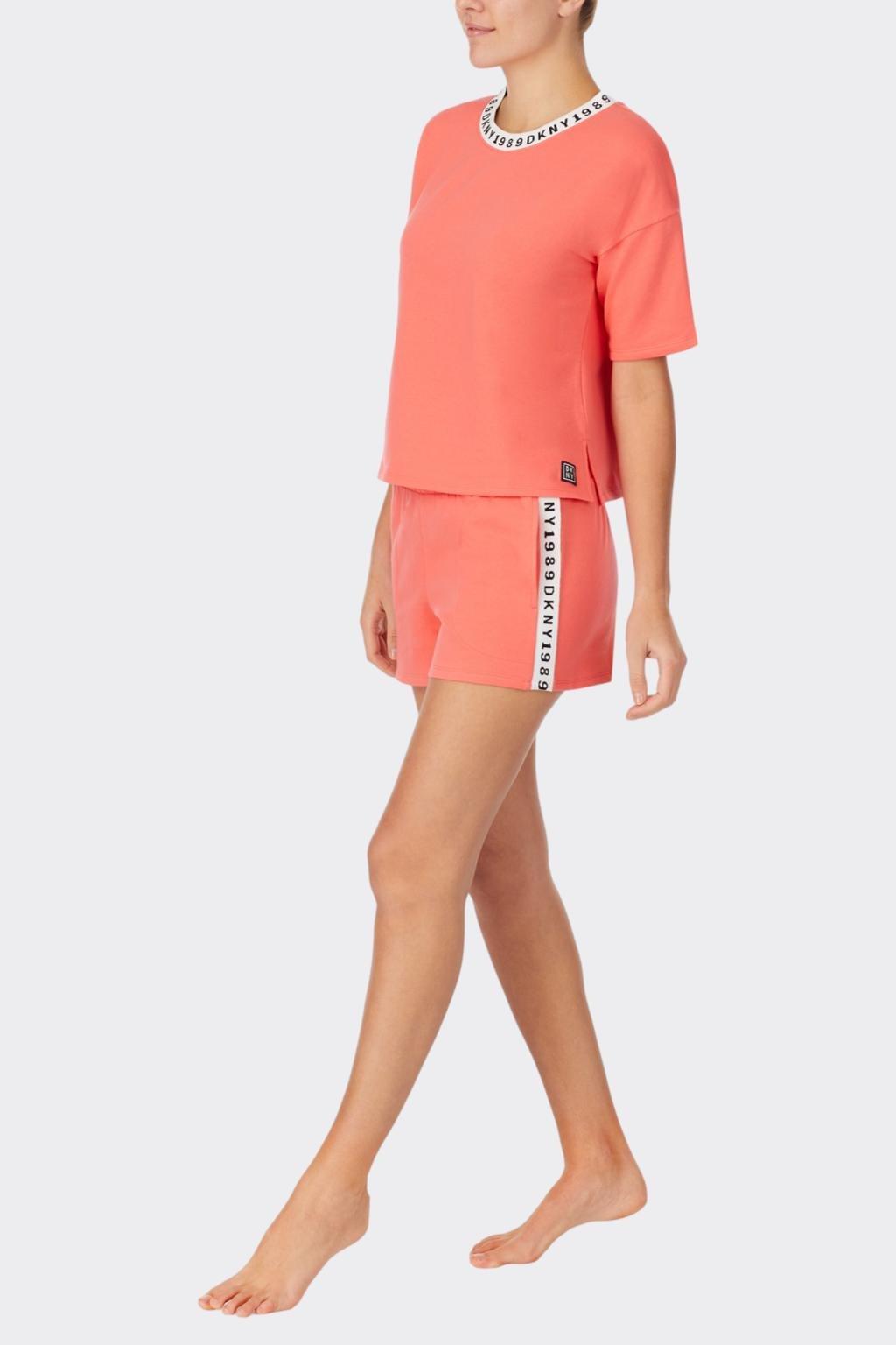 DKNY dámské pyžamo - oranžové