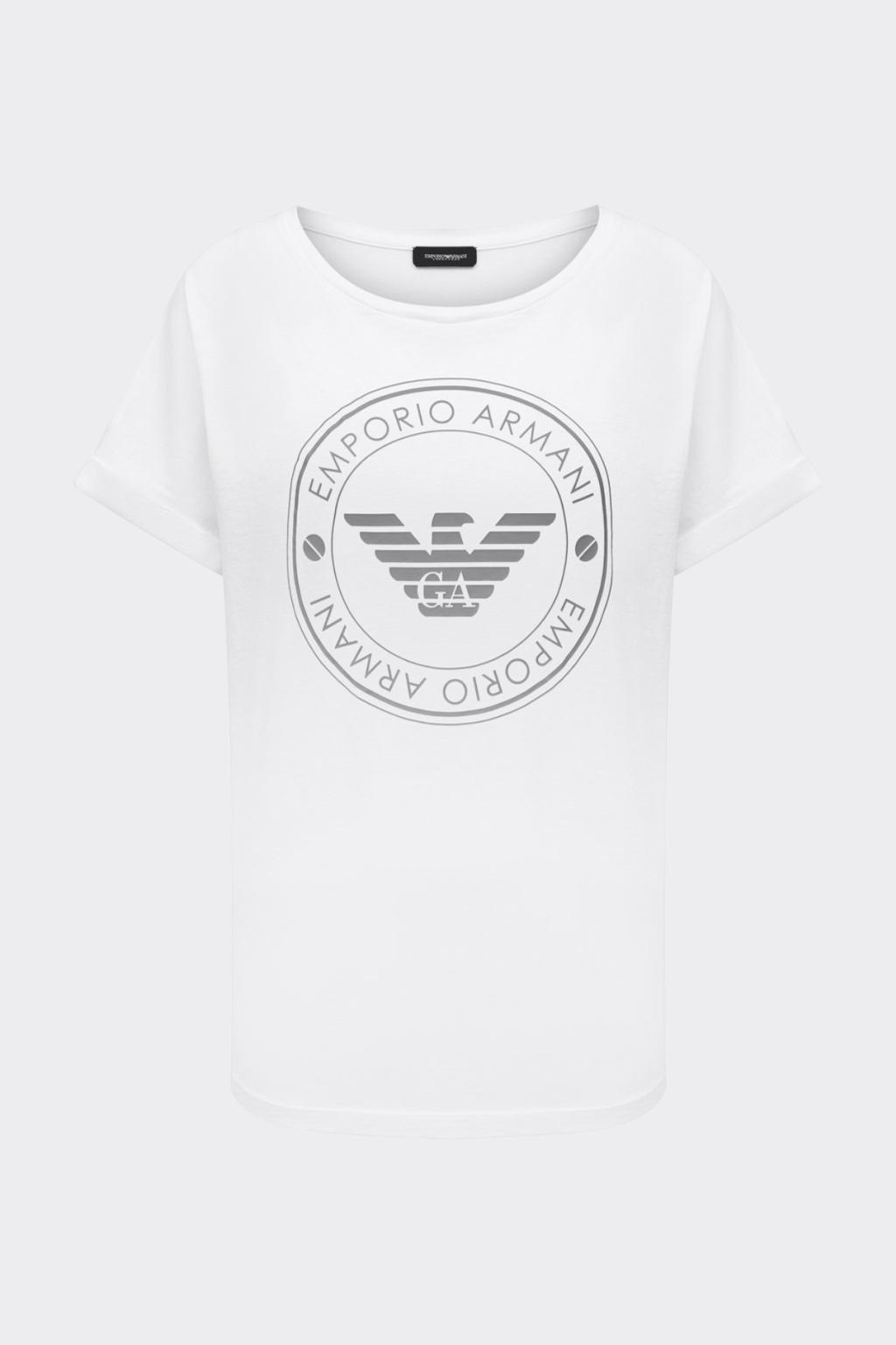 Emporio Armani tričko z organické bavlny dámské - bílá