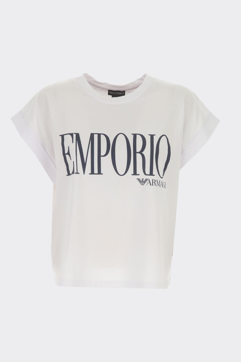 Emporio Armani Logo tričko dámské- bílé
