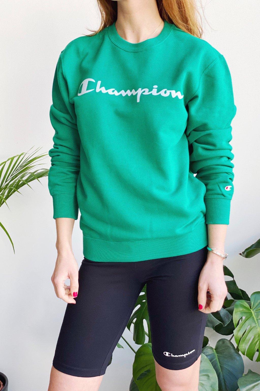 Champion dámská mikina s logem - zelená