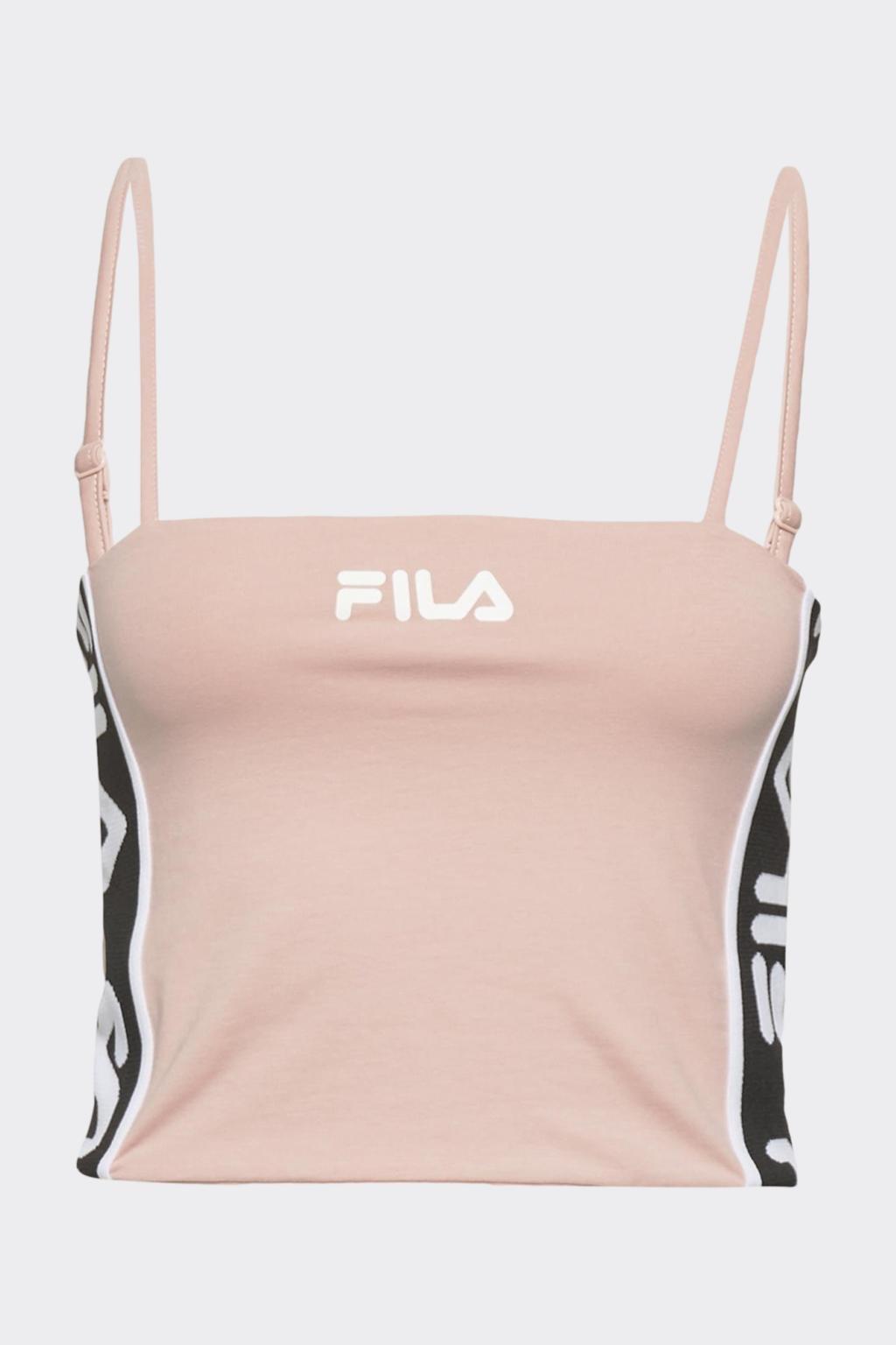 FILA cropped top TAKODA - světle růžový