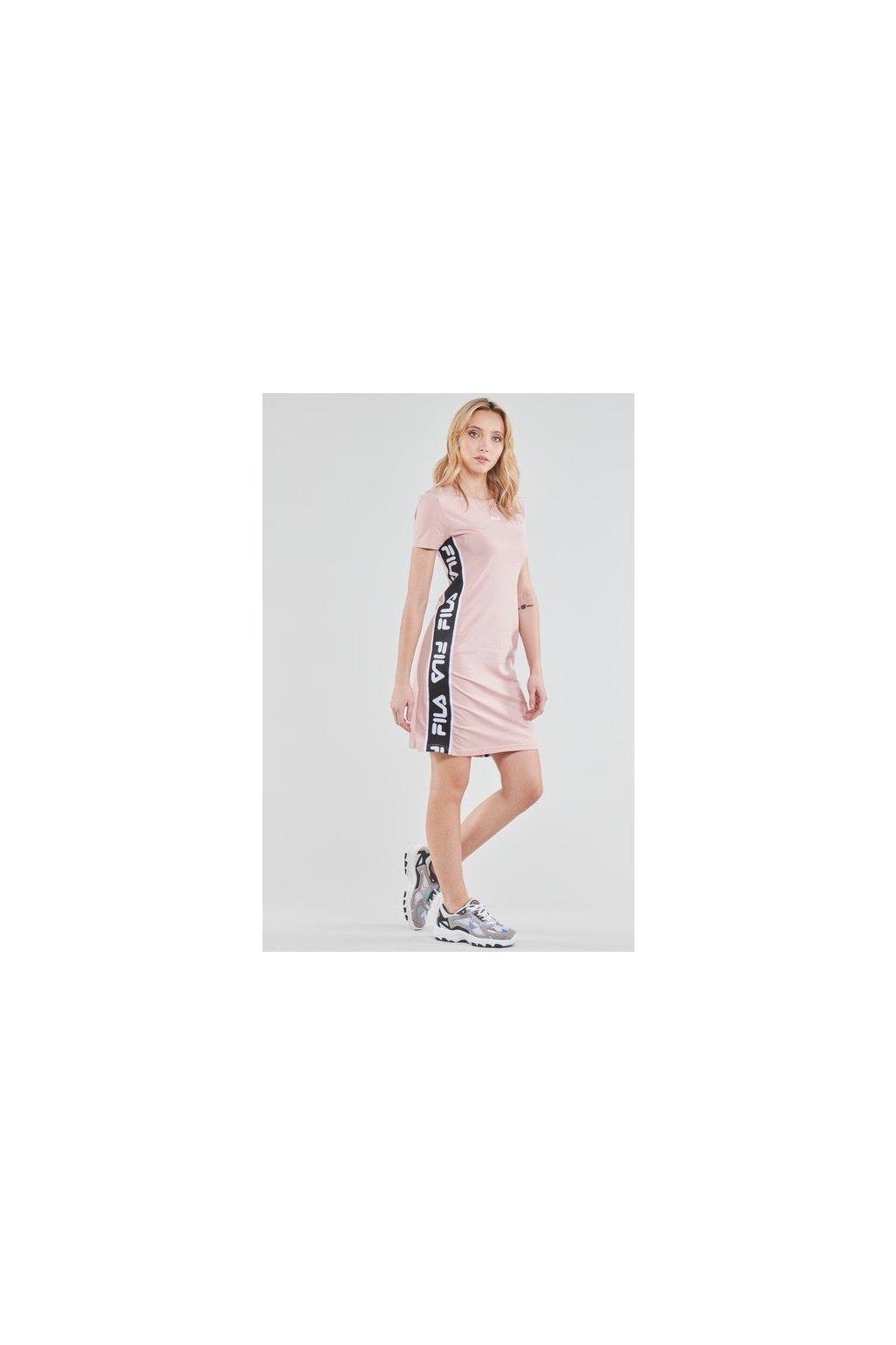 FILA šaty TANIEL - světle růžové