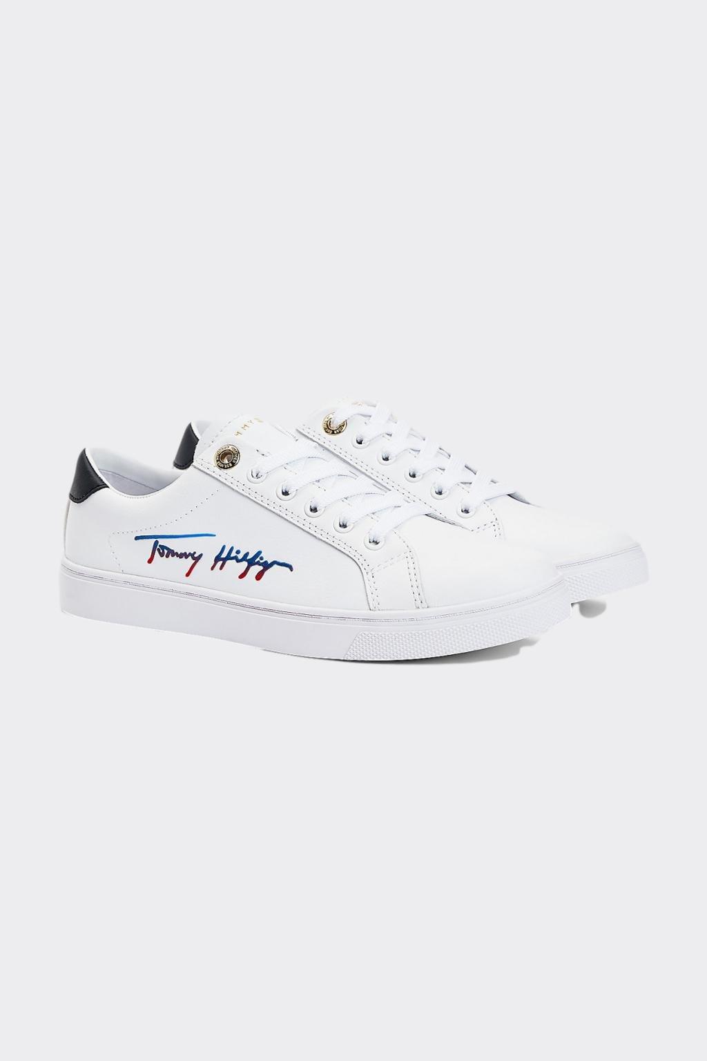 Tommy Hilfiger signature tenisky - bílé