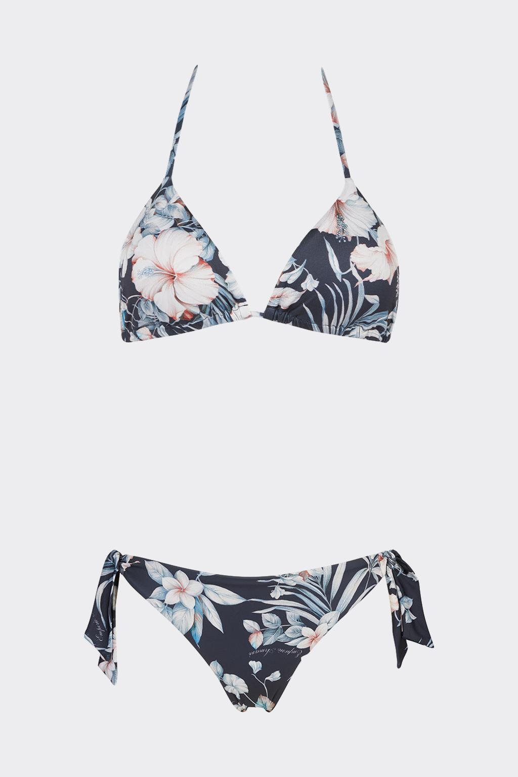 Emporio Armani Tropical Garden set plavek vrchní + spodní díl - bílá