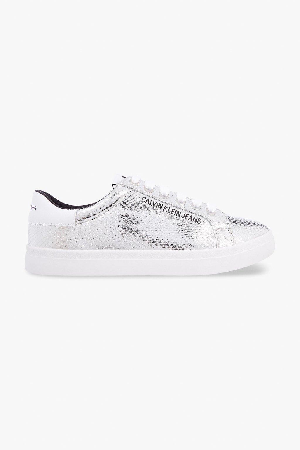 Calvin Klein Jeans Python tenisky dámské - stříbrné