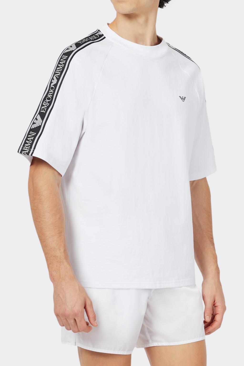 Emporio Armani Bold logo pánské tričko- bílé