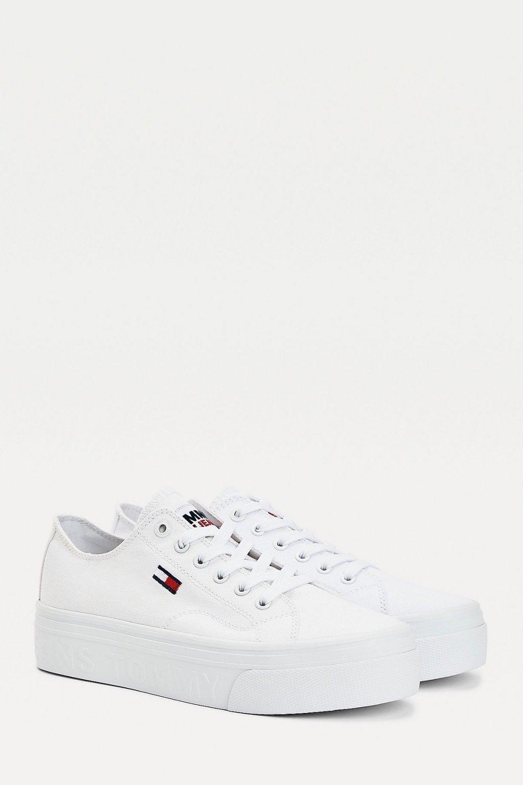 Tommy Jeans vulcanized dámské tenisky - bílé