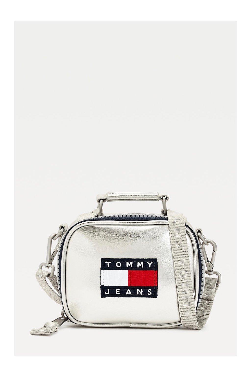 Tommy Jeans nano kabelka dámská - metalická