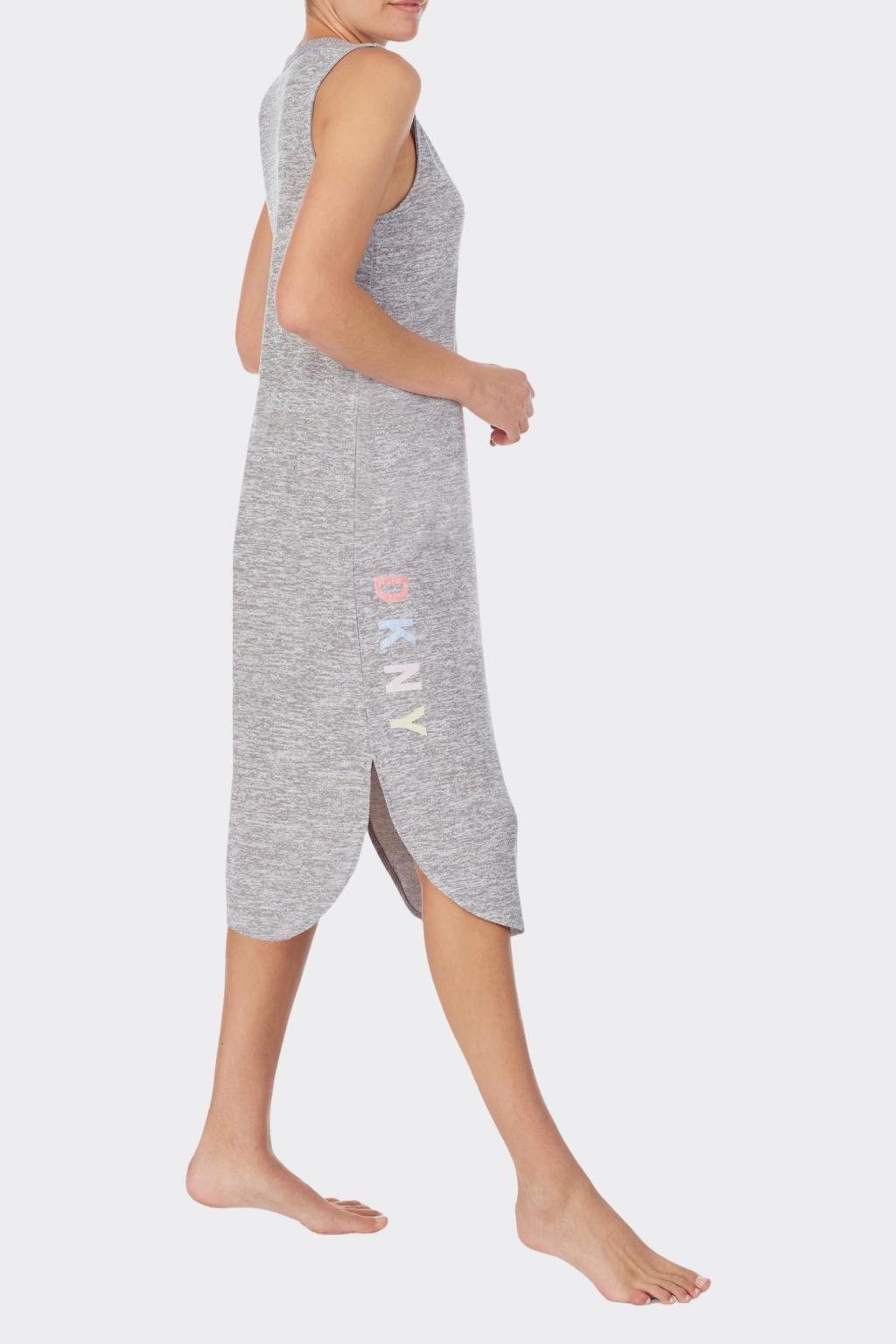 DKNY dámské volnočasové šaty s viskózou - šedé