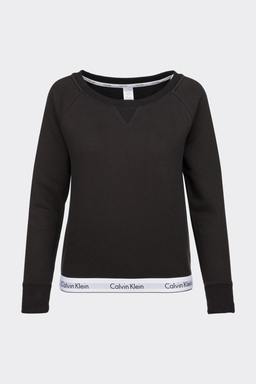 Calvin Klein Modern Cotton mikina dámská - černá (Velikost XS)