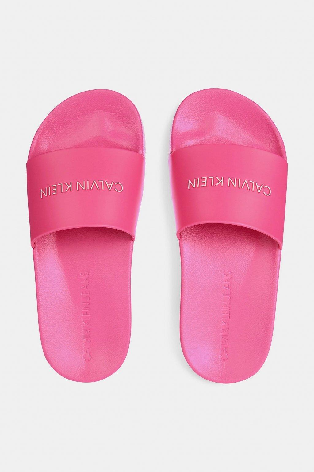Calvin Klein Jeans pantofle dámské - růžové