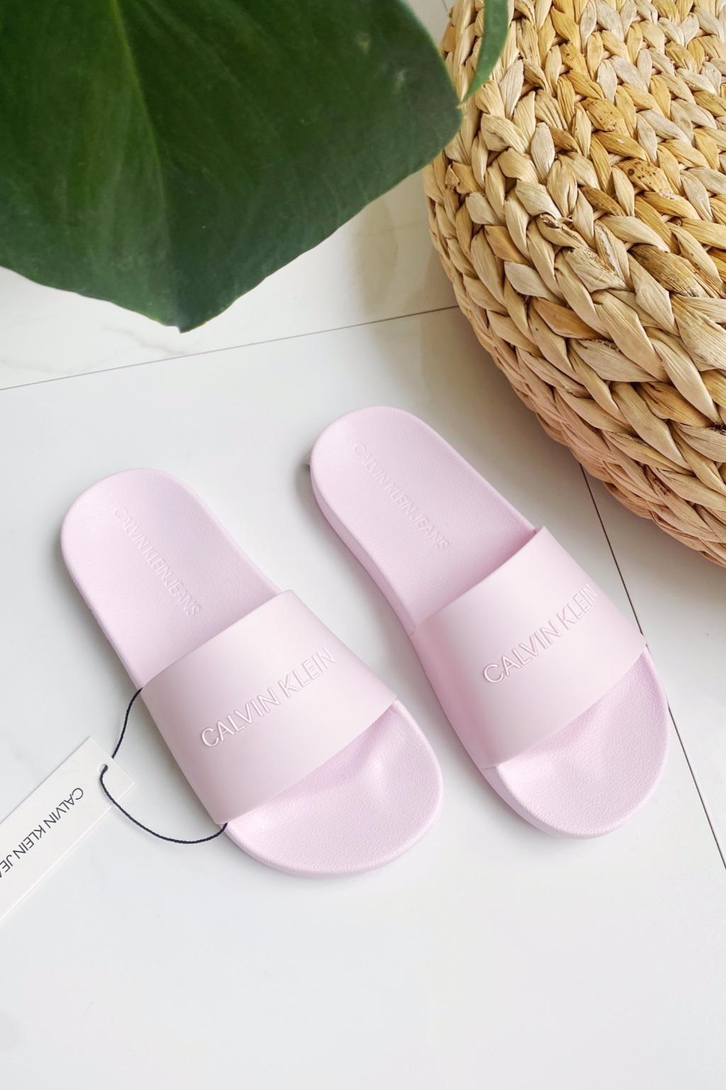 Calvin Klein Jeans pantofle dámské - světle růžové