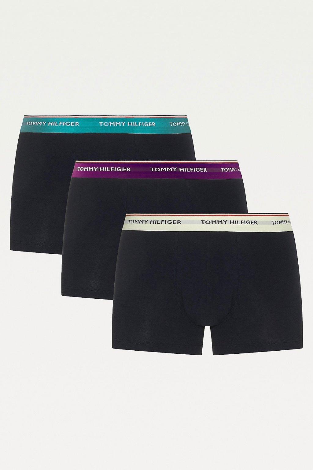 Tommy Hilfiger Premium Boxerky 3 balení -  černá